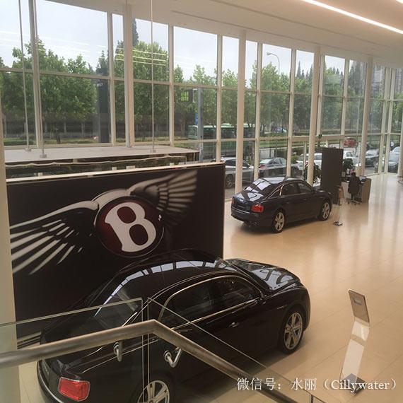 宾利汽车奢华而简洁的现代化汽车展厅