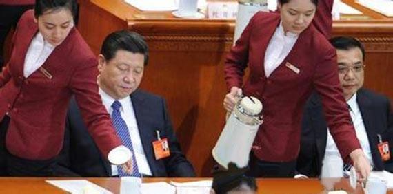 领导人在喝什么水